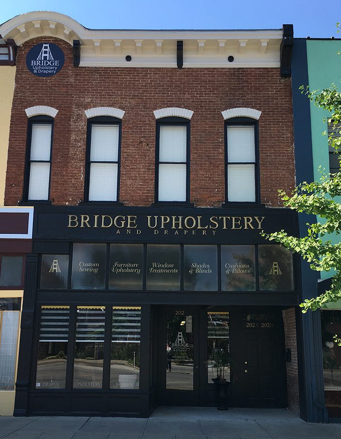 Bridge Upholstery & Drapery on Commercial Street in Springfield MO
