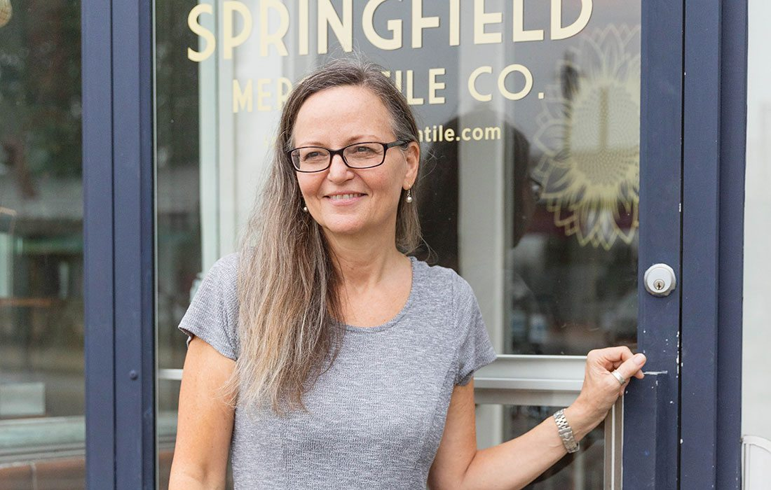 Springfield Mercantile Co. owner, Molly Brown.