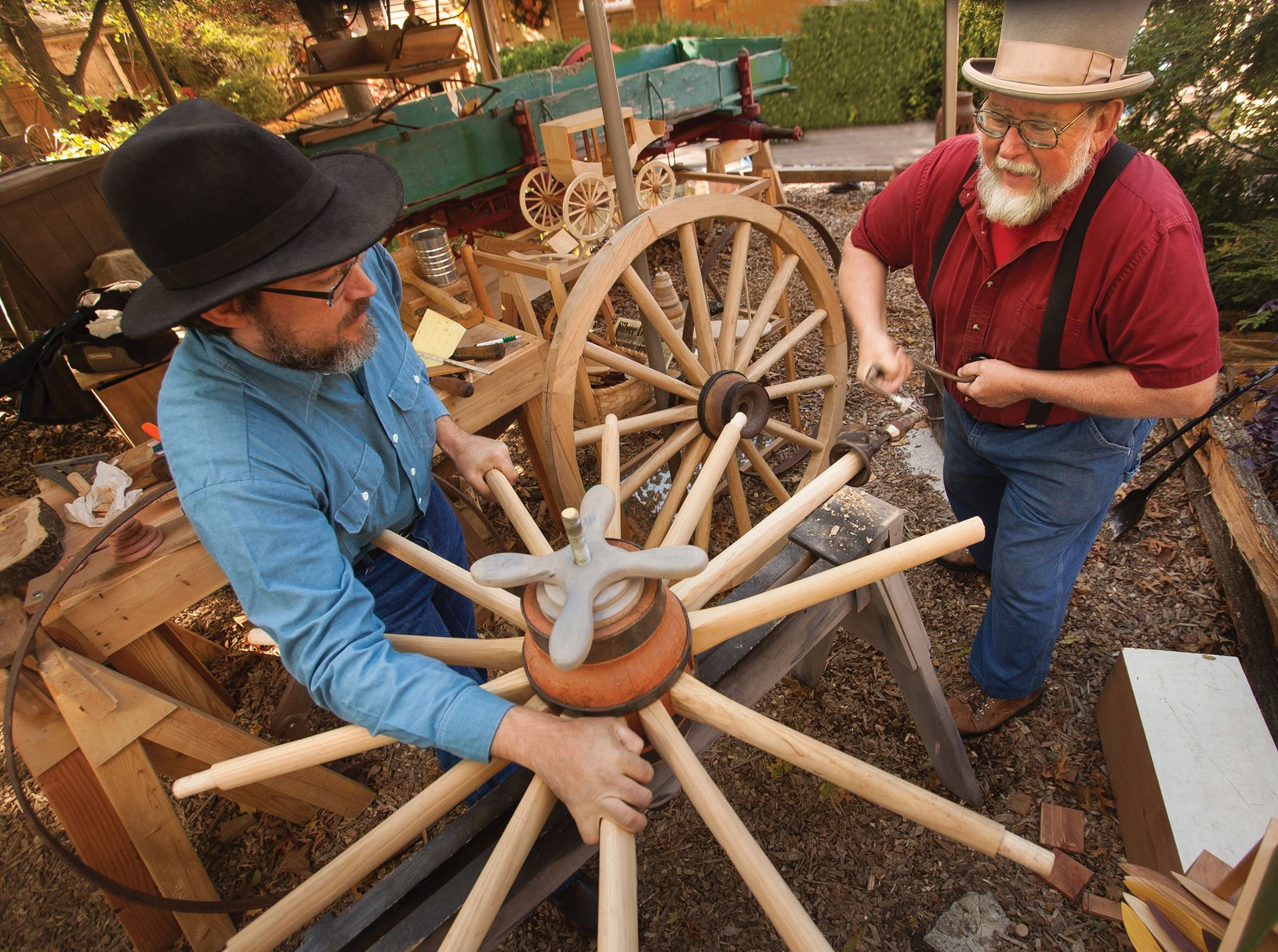 Craftsmen at Silver Dollar City in Branson MO
