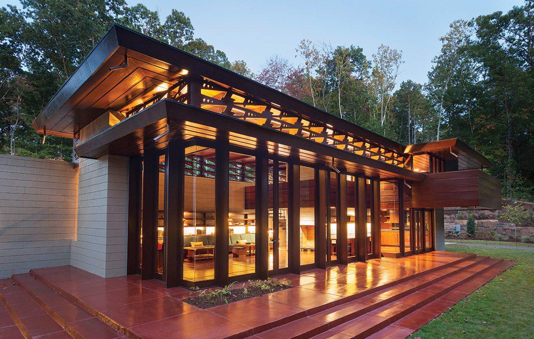 Frank Lloyd Wright home on the Crystal Bridges grounds in Bentonville, Arkansas