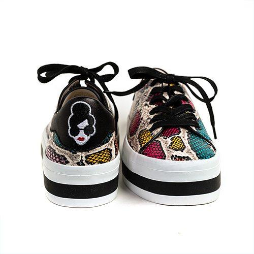 Alive & Olivia snake print sneaker, $440 at Harem & Co