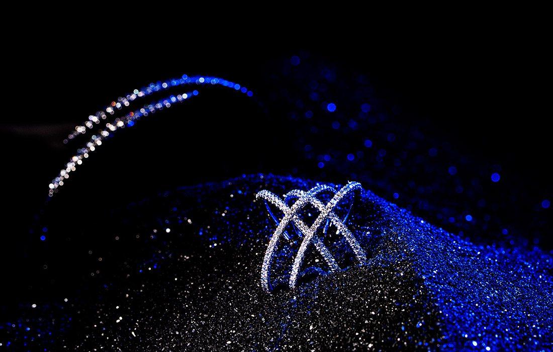 Bracelets in black sand