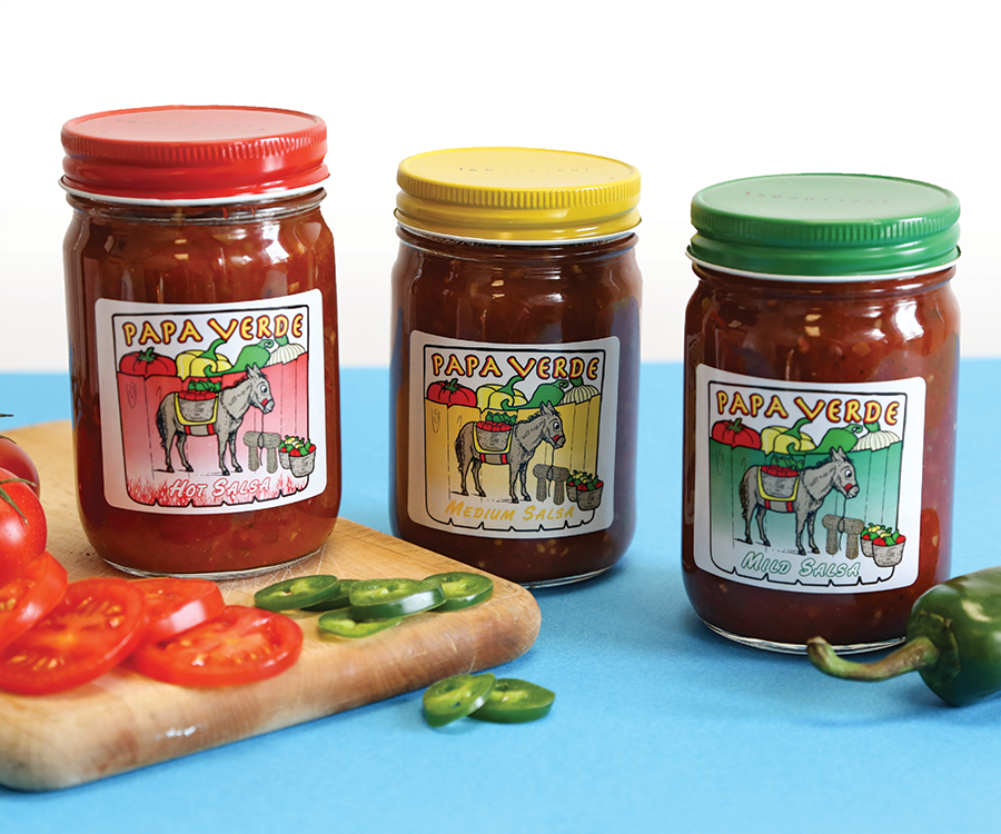 PaPa Verde Canning Company makes three salsas from ingredients that are grown in Crane.