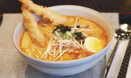Spicy Shrimp Ramen at Koriya