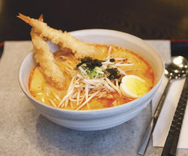 Spicy Shrimp Ramen at Koriya