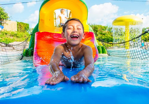 Young boy at Splash Country Resort in Branson MO