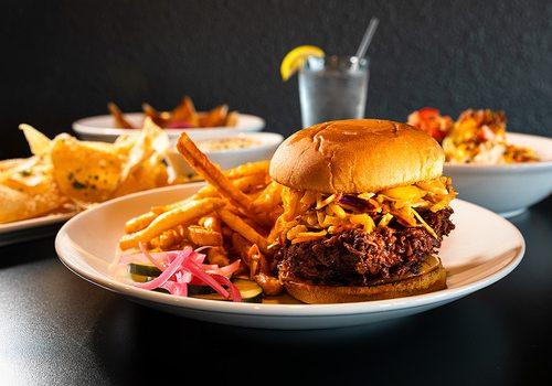 SPLIT Social Kitchen burger