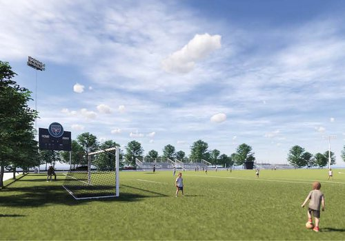 Rendering of the playing field