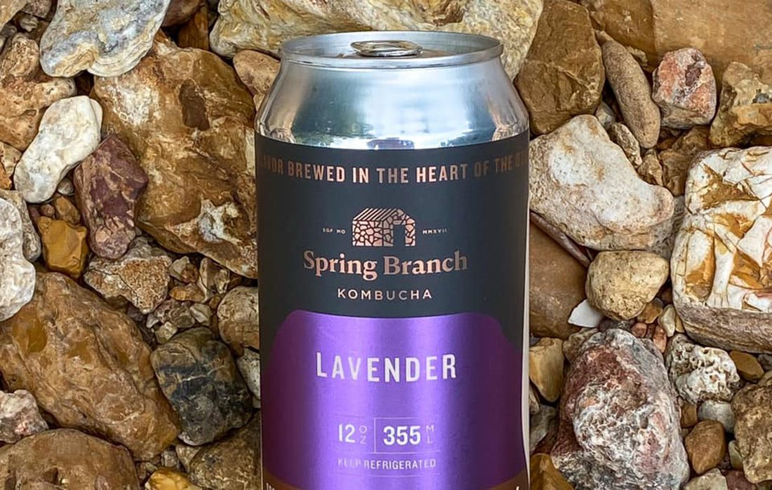 Spring Branch Kombucha in a can