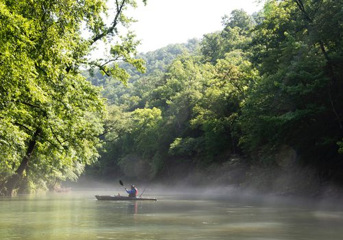 Floating on the Buffalo River