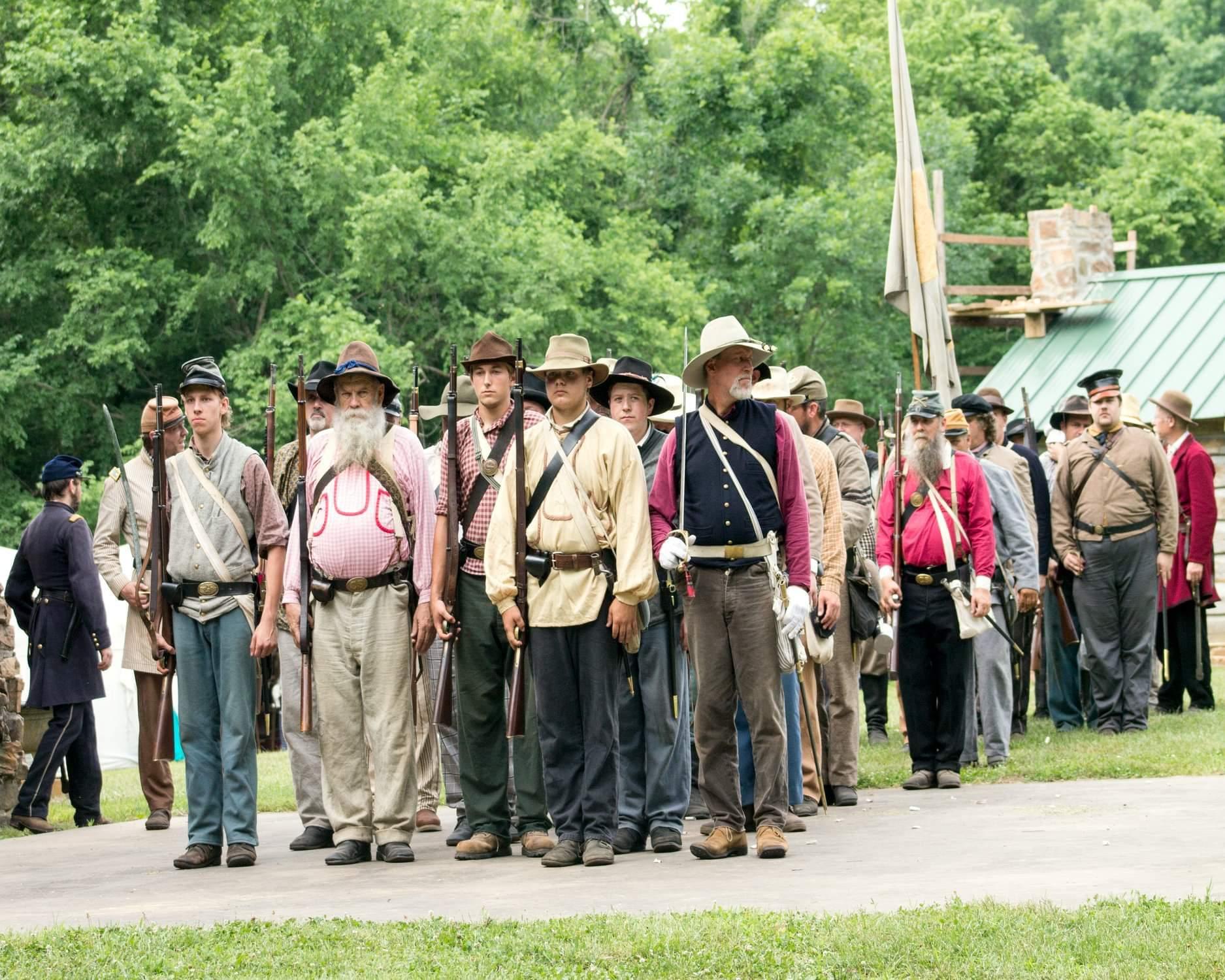 Civil War Re-enactment in Springfield, MO