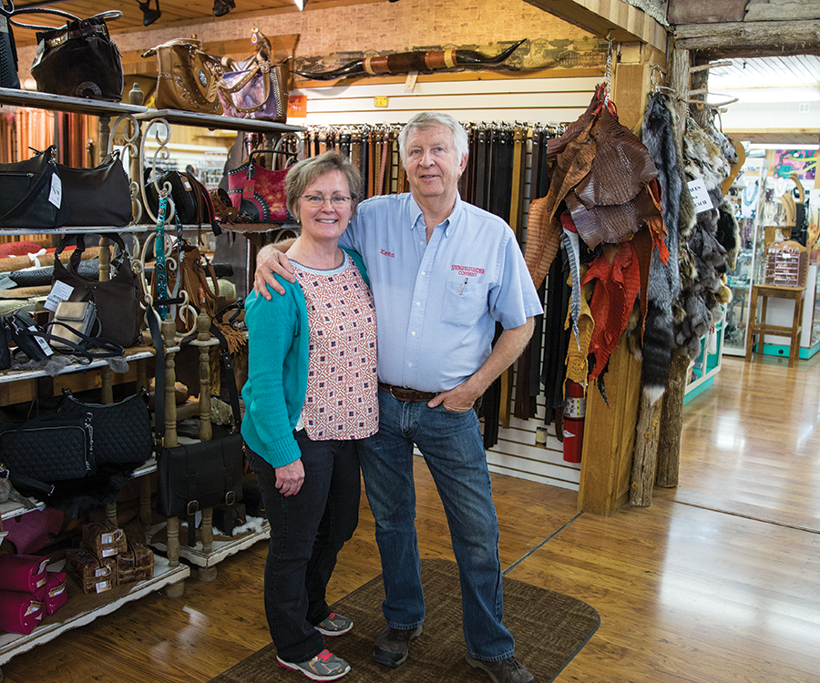 Rebecca and Kevin Hopkins of Springfield Leather Company