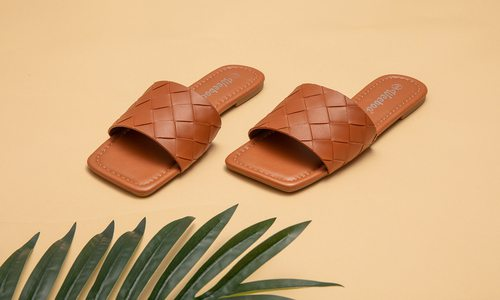 Square toed sandals
