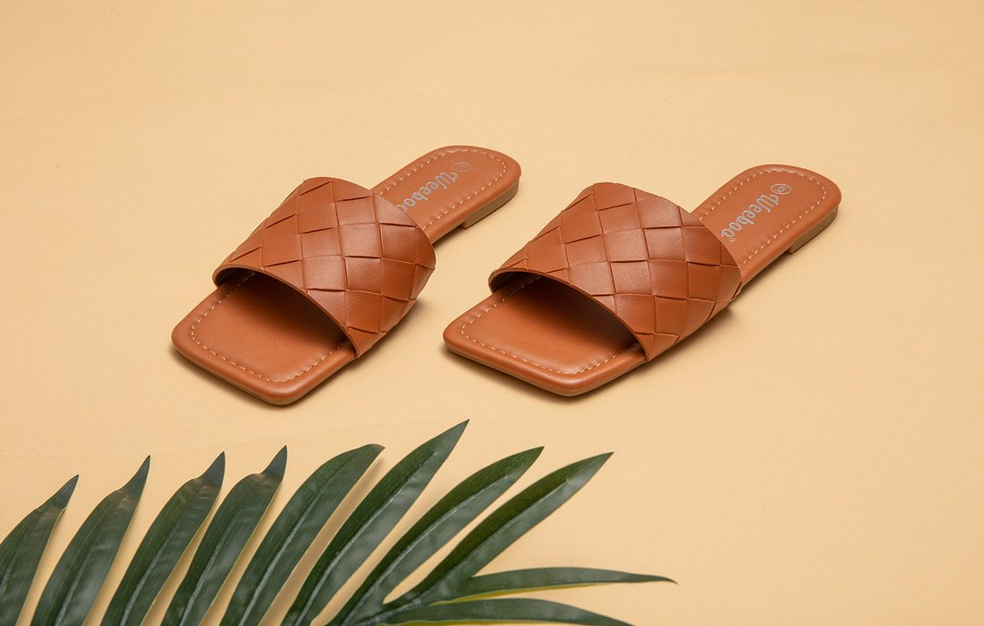 Square toed sandals photo