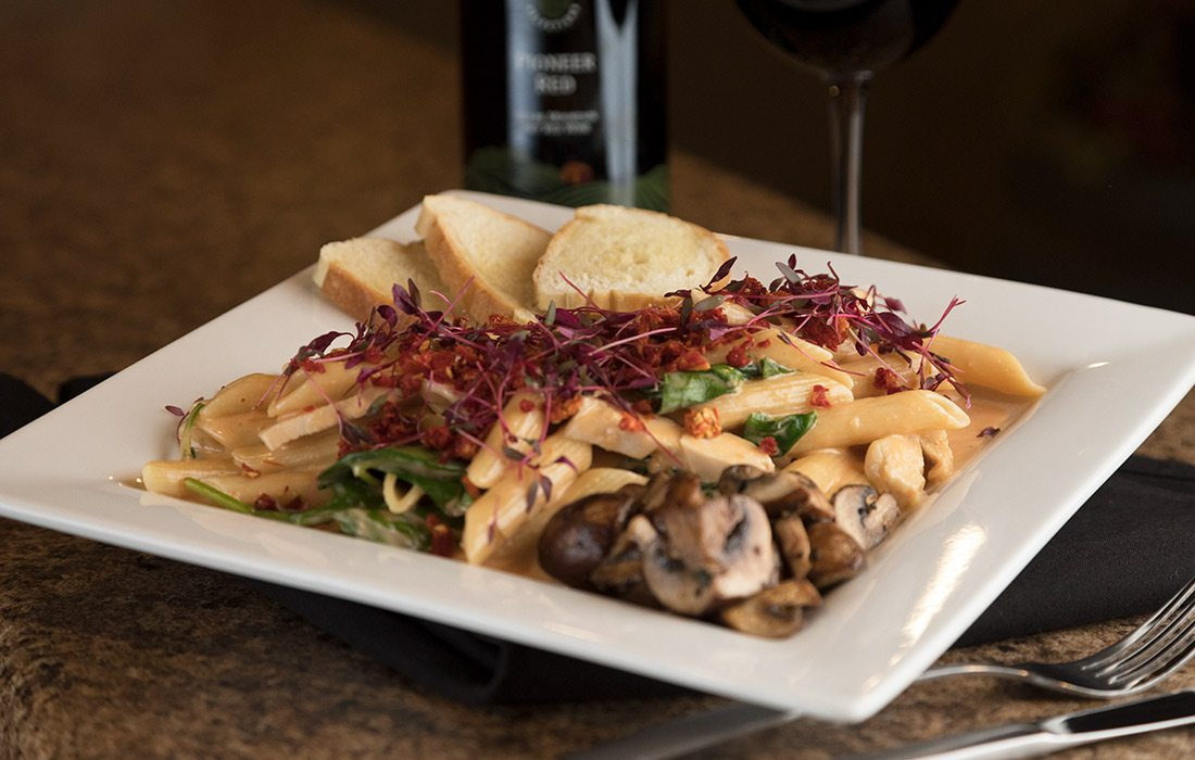 Pasta dish at St. James Winery in Branson MO