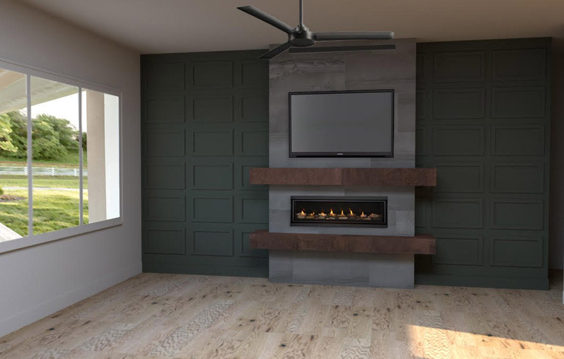 Fireplace design for St. Jude's Dream Home