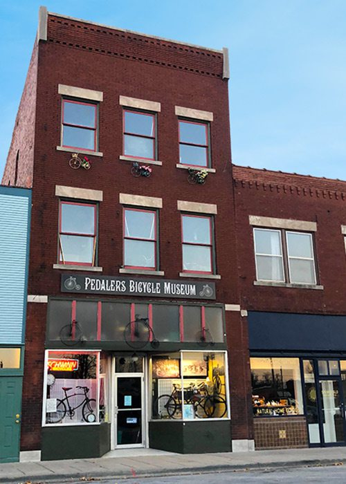 Pedalers Bicycle Museum on historic Commercial Street in Springfield MO