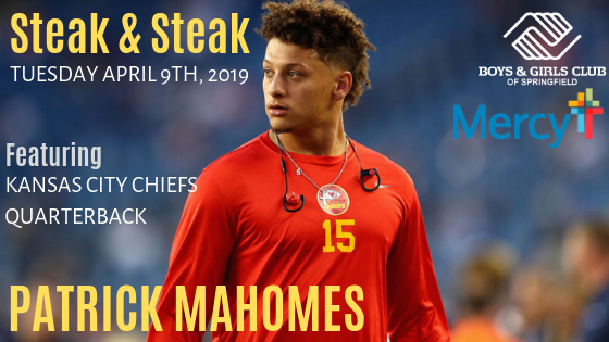 Steak & Steak Dinner with Patrick Mahomes