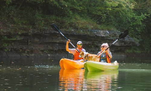 Kayakers on the Mulberry River