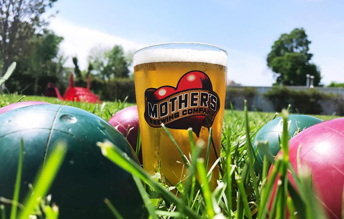 Bocce League in the Mother's Backyard at Mother's Brewing Company
