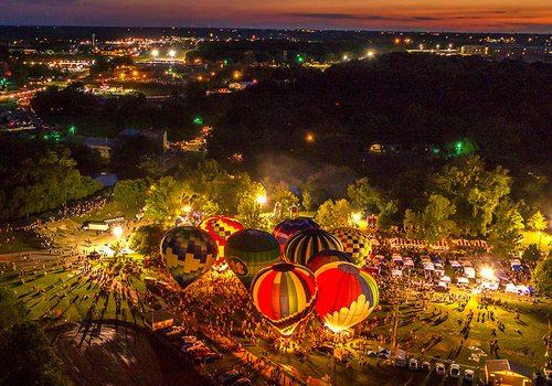 Hot Air Balloon Glow Ozark MO