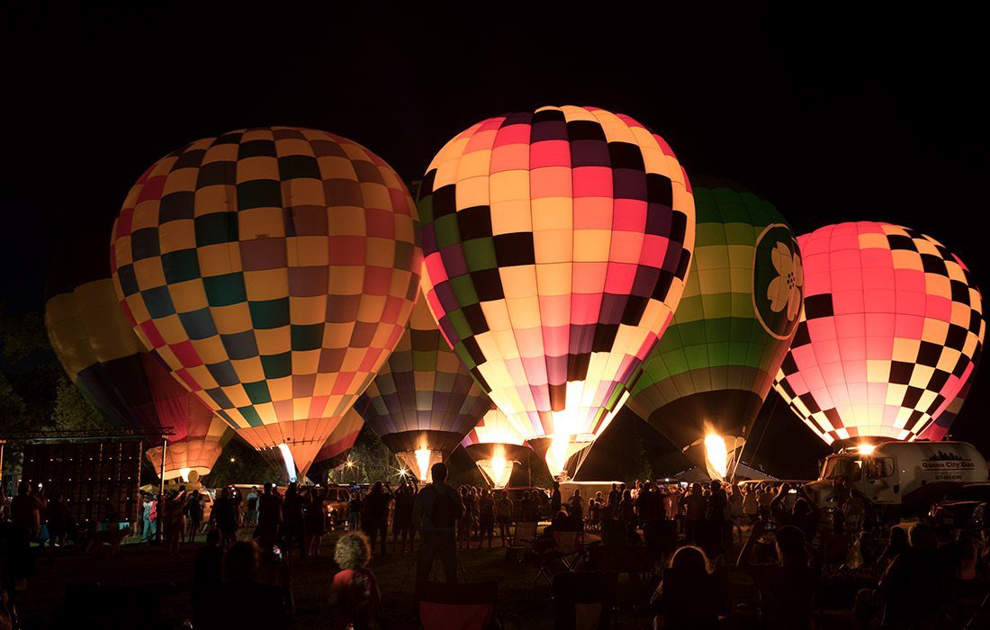 Hot Air Balloon Glow Ozark Missouri