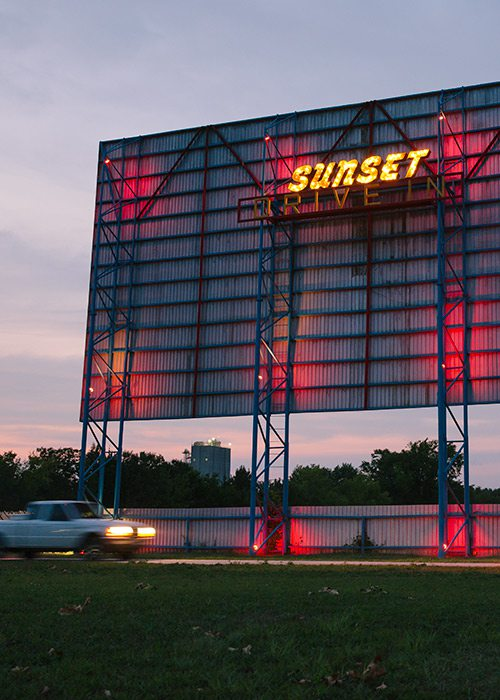 Sunset Drive-In Movie Theater Aurora MO
