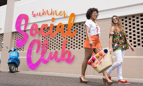 Summer Social Club: Bright Colors, Tropical Prints and Pompoms