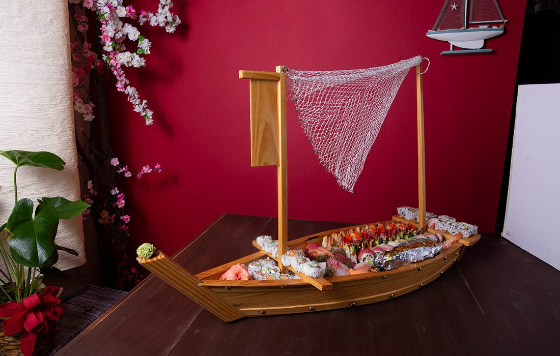 Sushi boat at Sushi Village