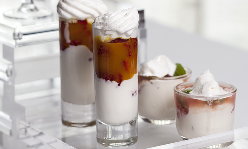 Swedish Cream & Fresh Fruit Shooters