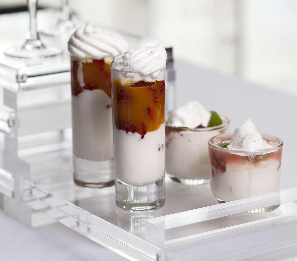 Swedish Cream & Fresh Fruit Shooters