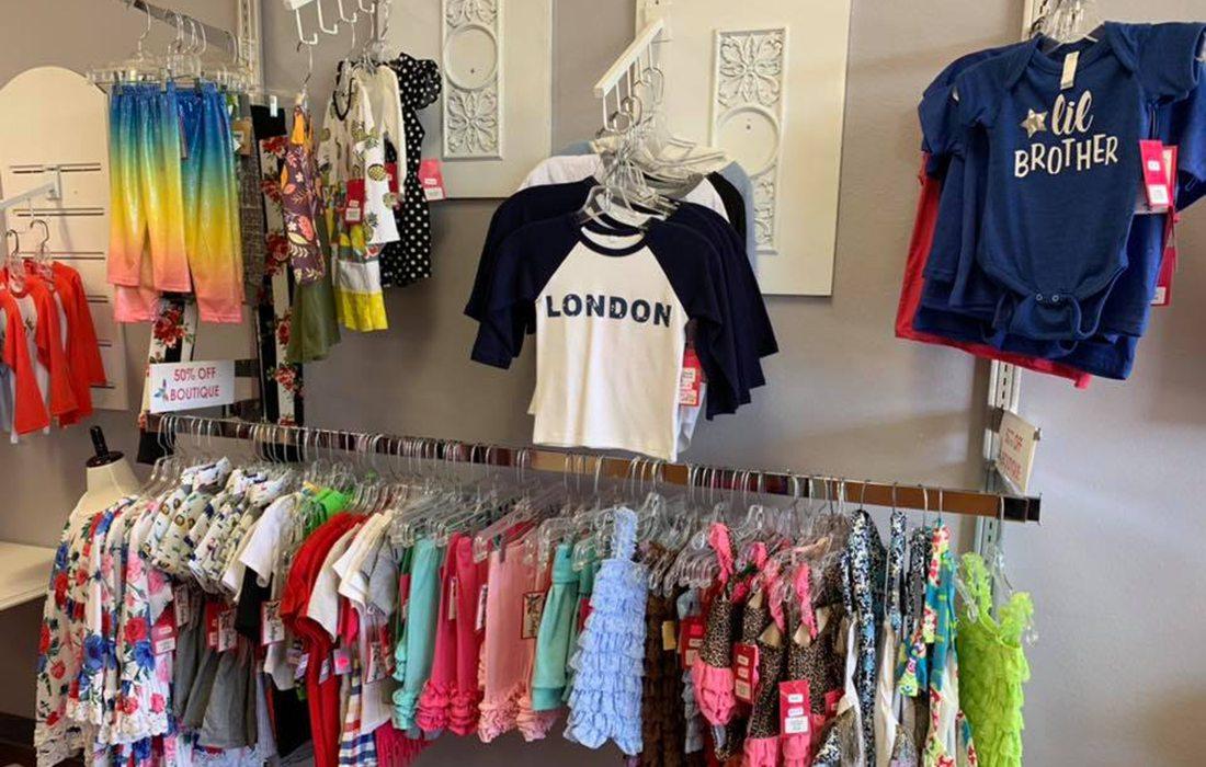 Clothing display at Sweet Repeats & Boutique in Nixa MO