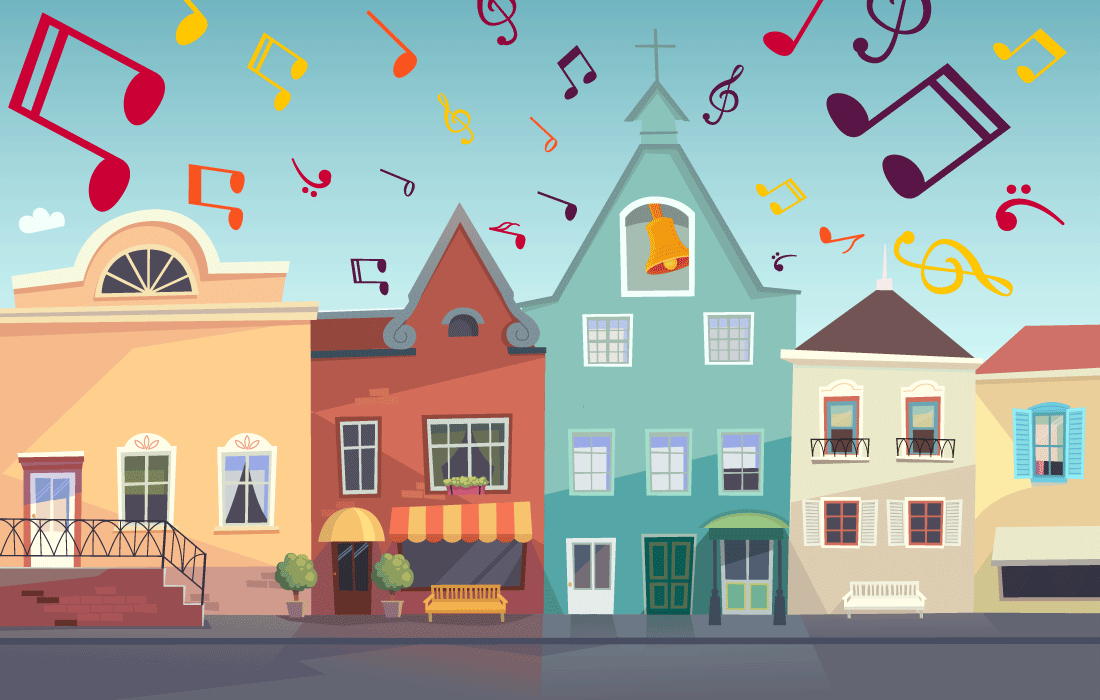Sweet Sounds of the City Illustration