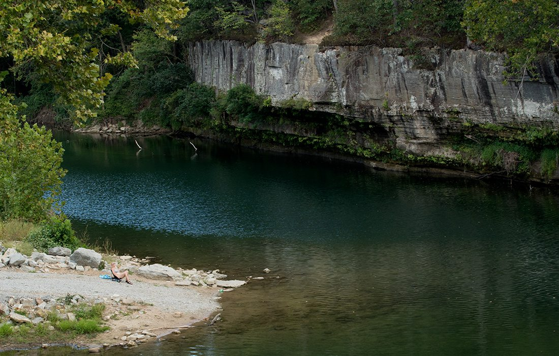 Dog's Bluff is an easy spot to locate and access for a relaxing swim.