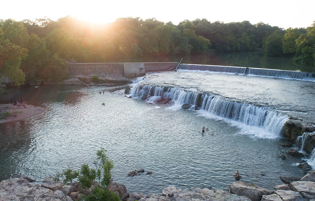 Grand Falls, Missouri's largest continuous waterfall, is located just an easy hour and 15 minutes from Springfield, making it an easy escape.