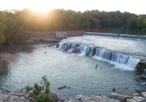 Grand Falls in Joplin, MO