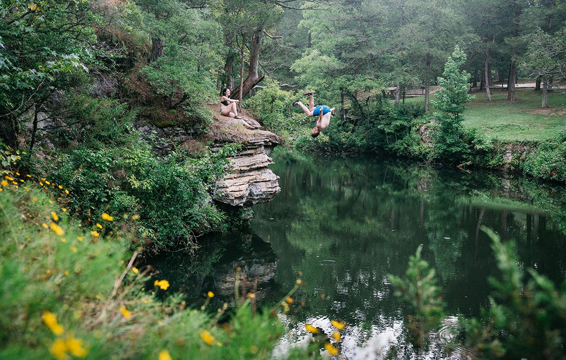Jump into fun at Gunner Pool Recreation Area. Located on the North Sylamore Creek in Arkansas, the area offers swimming, fishing, hiking, camping and more.