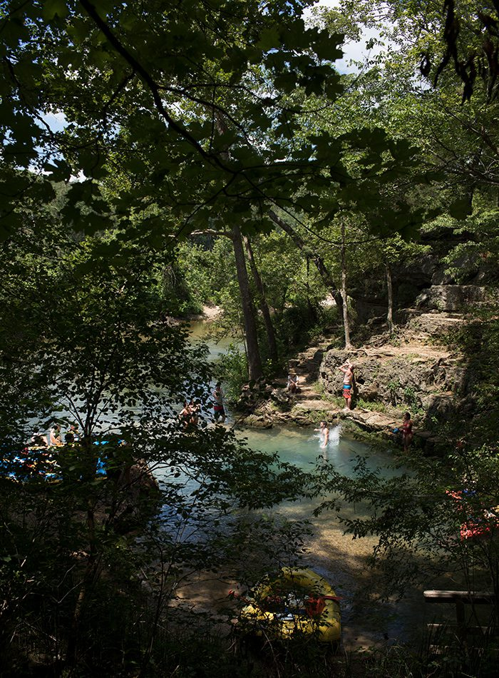 Located on the North Fork River, Blue Spring pumps an average of 7 million gallons of water a day.