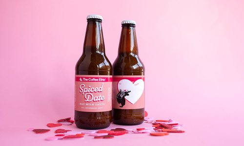 Coffee Ethic Spiced Date Oat Milk Latte bottled Valentine's