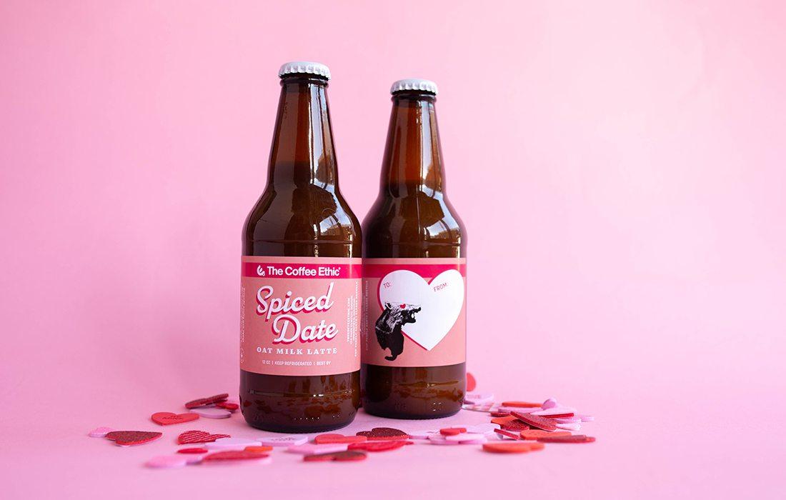 Coffee Ethic Spiced Date Oat Milk Latte bottled Valentine's