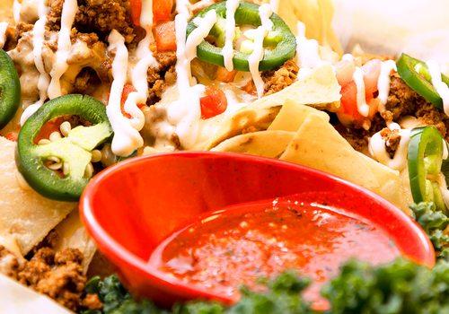 Taco filling closeup photo