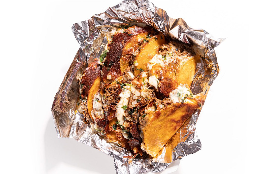 Fried Dipped Barbacoa Mini Quesadillas from Chubby Cactus Taco Truck in Springfield MO
