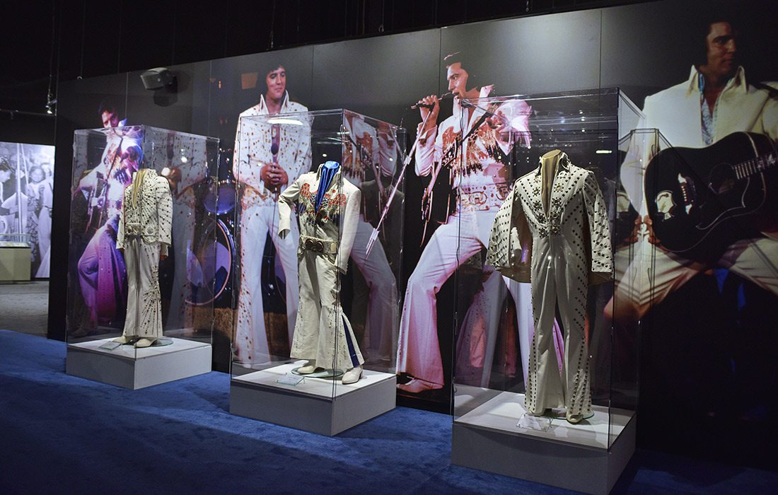 Elvis memorabilia at Graceland in Memphis, Tennessee