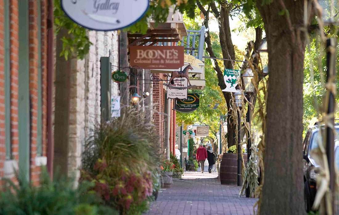 Main Street in St. Charles, MO