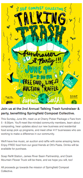 Attend the Talking Trash event in Springfield, MO