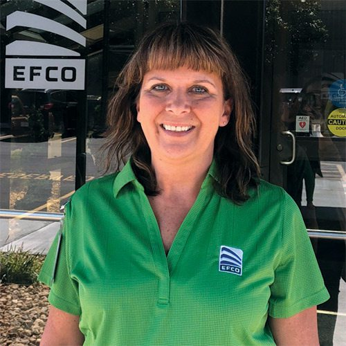 Tammy Packwood, Production Coordinator with EFCO Corporation