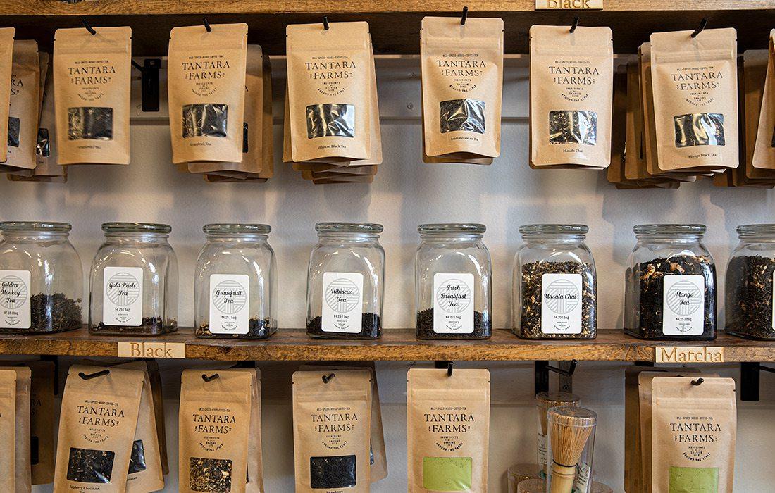 Tea selection at Tantara Farms in Springfield MO