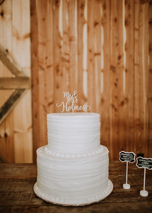 Taylor Abraham & Corey Holmes wedding cake