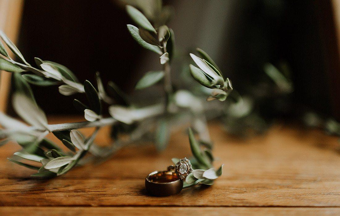 Taylor Abraham & Corey Holmes' wedding rings