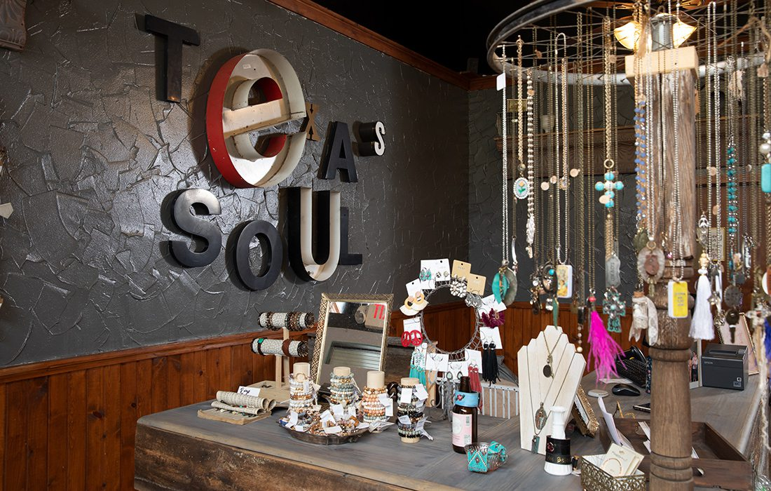 Interior of Texas Soul Boutique in Ozark, MO